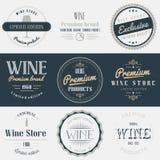 Wine drink labels set. Brands design elements Stock Image
