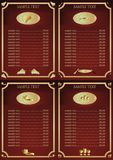Wine drink menu list. Vector illustration Royalty Free Stock Photography