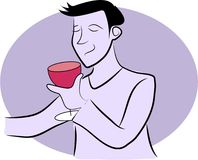 Wine Drinker Royalty Free Stock Photography