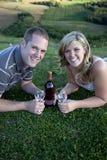 Wine drinking celebration Stock Image