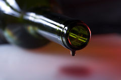 Wine dripping Stock Photo