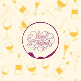Wine drops over text paper background. Royalty Free Stock Photo