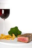 Wine e pranzi immagini stock