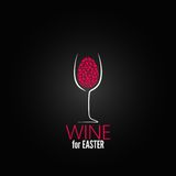 Wine easter design background Royalty Free Stock Images