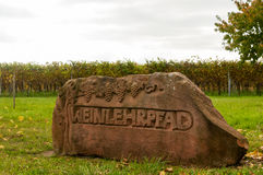 Wine educational trail. In Rhenish Pfalz royalty free stock photography