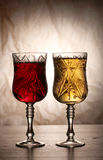 Wine in elegant glasses Royalty Free Stock Image