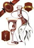 Wine elements Stock Images