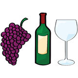Wine elements Royalty Free Stock Photo