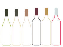 Wine Empty Bottles Illustration Stock Photo