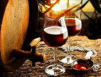 Wine. Enjoy wine tasting doc to any occasion Royalty Free Stock Photography