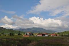 Wine estate in Tuscany Stock Photo