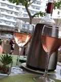 Wine et dinez photographie stock libre de droits