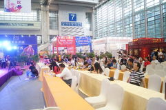 Wine exhibition and tea culture seminar Royalty Free Stock Photography