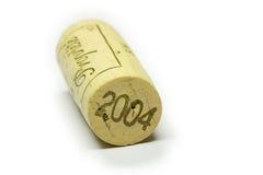 wine för 2004 kork Arkivbilder