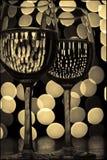 wine för 5 exponeringsglas Arkivbilder