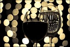 wine för 9 exponeringsglas Arkivfoto