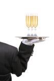 wine för betjäntexponeringsglasmagasin royaltyfria foton