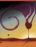 wine för designreklambladaffisch Arkivfoton