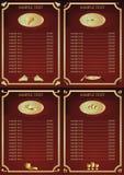 wine för drinklistameny Royaltyfri Illustrationer