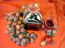 wine för druva för flaskexponeringsglas Arkivfoto
