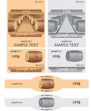 wine för etikettset Stock Illustrationer