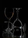 wine för exponeringsglas tre arkivfoto