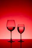 wine för exponeringsglas två Royaltyfri Foto