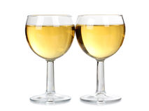 wine för exponeringsglas två Royaltyfria Bilder