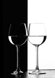 wine för exponeringsglas två Arkivfoto