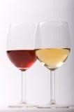 wine för exponeringsglas två Arkivbilder