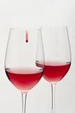 wine för exponeringsglasred två Royaltyfria Bilder