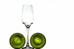 wine för flaskexponeringsglas Royaltyfri Fotografi