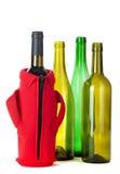 wine för flaskor fyra Fotografering för Bildbyråer