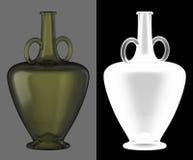 wine för green för flaskexponeringsglas Arkivfoton