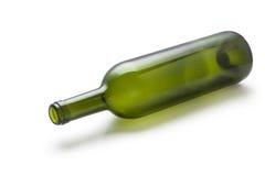 wine för green för flaskexponeringsglas Fotografering för Bildbyråer