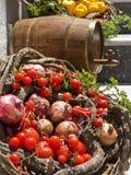 wine för korgcaskgrönsak Royaltyfri Foto