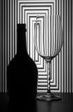 wine för livstid för flaskexponeringsglas still Arkivbild