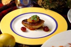 wine för panna för lever för Cherryand fransk ny stekt Royaltyfria Bilder