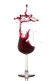 wine för röd färgstänk för bakgrund vit Arkivfoto