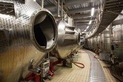 Wine Factory Aluminum Barrels Royalty Free Stock Photo