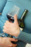 Wine fan Royalty Free Stock Photography