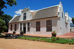 Wine farmhouse in colonial style (South Africa) Royalty Free Stock Image