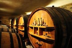 Wine fermenation tanks Royalty Free Stock Photo