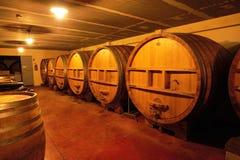 Wine fermenation tanks Royalty Free Stock Photos