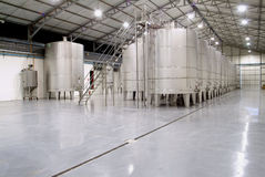 Wine fermentation tanks Royalty Free Stock Images