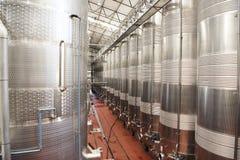 Wine Fermentation Tanks Stock Photo