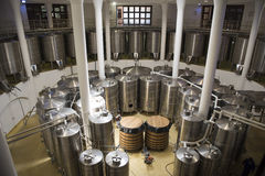 Wine fermentation tanks Royalty Free Stock Photography