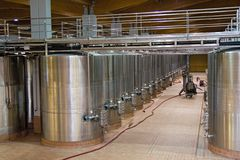 Wine fermentation vats Stock Photography