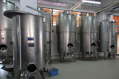 Wine fermentation vats Stock Photos