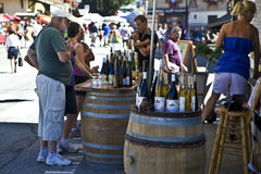 Wine festival in Notre Dame de Bellecombe Stock Photography